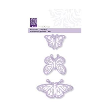 Gabarit de coupe et de gaufrage Papillon