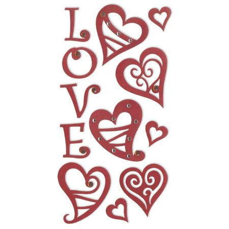Sticker LOVE coeurs