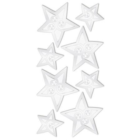 Sticker Étoiles argent