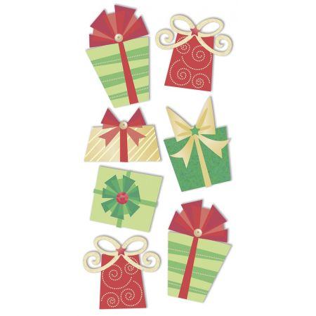 Sticker Cadeaux rouge/vert