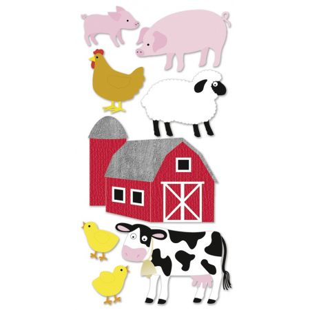 Sticker animaux ferme