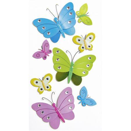 Sticker Papillons strass