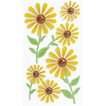 Sticker Fleurs jaunes
