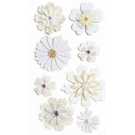 Sticker Fleurs blanches
