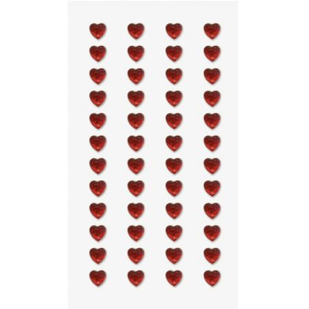 Sticker strass Coeurs miniature rouge