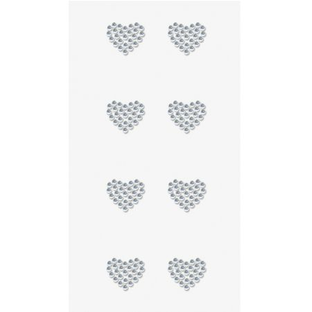 Sticker strass Coeur cristal