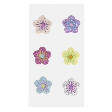 Sticker textile fleurs assorties