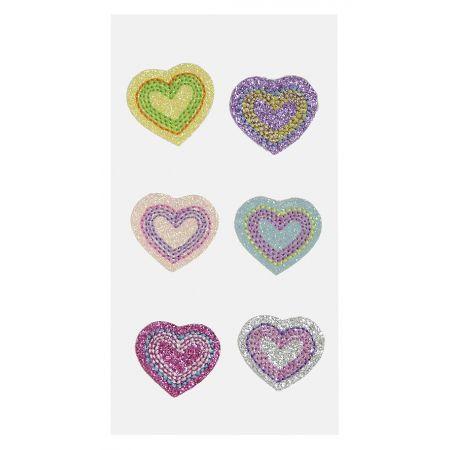 Sticker textile Coeurs assortis
