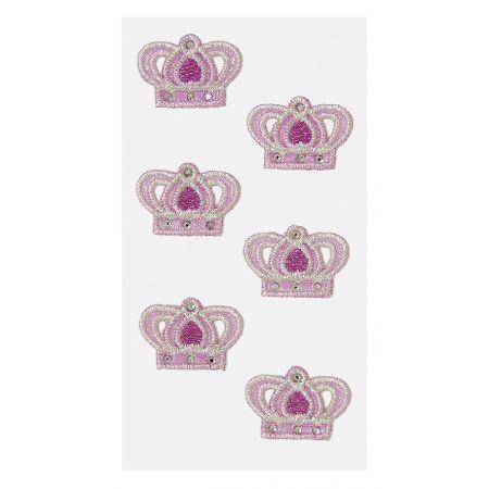 Sticker textile bébé fille 3 (couronnes)