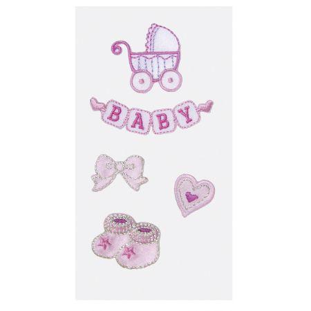 Sticker textile bébé fille1