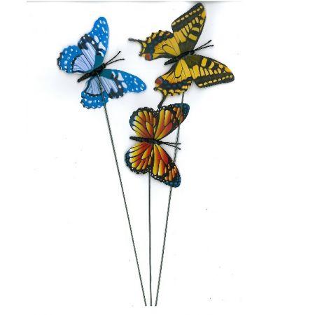Papillon sur tige 9cm