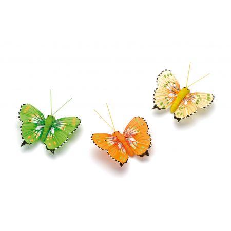 Papillons sur pince 5cm 4 pces