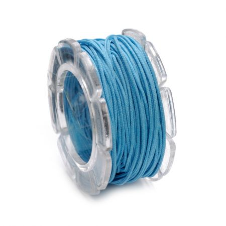 Cordon ciré 1mm5 m turquoise SB