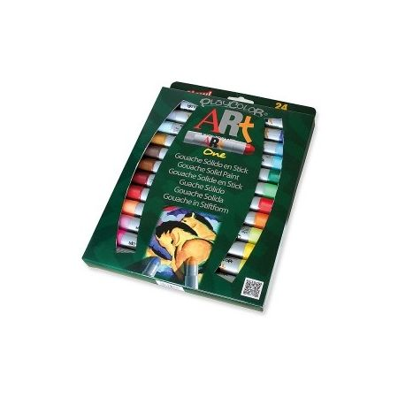PlayColor Art One boîte de 24 gouaches solide