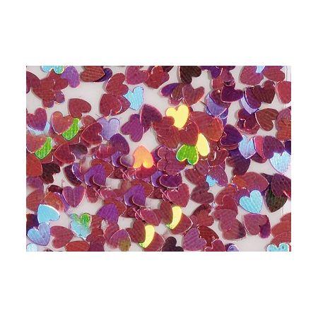 Coeur glitter holo-rose - rose 7g