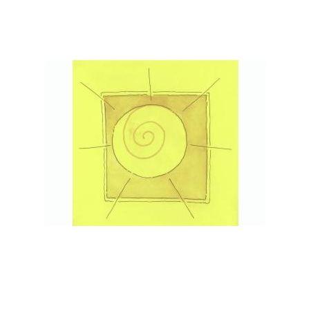 Ornemnement de cire Soleil 40x40mm