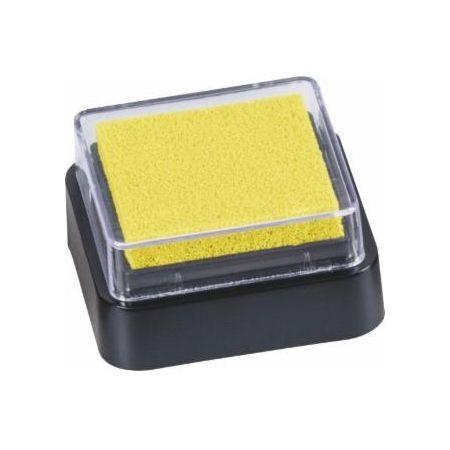 Mini coussin encreur 3x3cm jaune