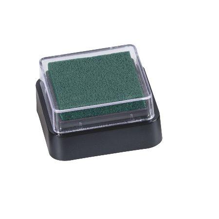 Mini coussin encreur 3x3cm vert foncé