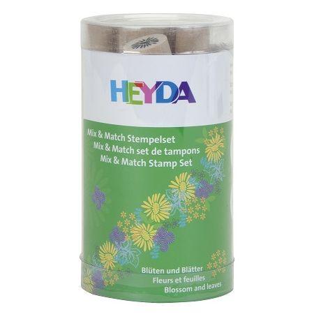 Kit tampons Mix+Match fleur + feuille 7 pces