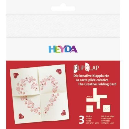 Set de cartes ClipClap coeur