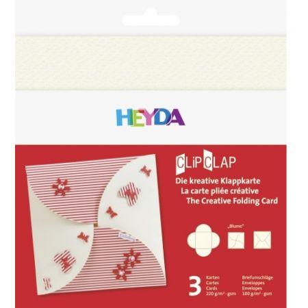 Set de cartes ClipClap fleur