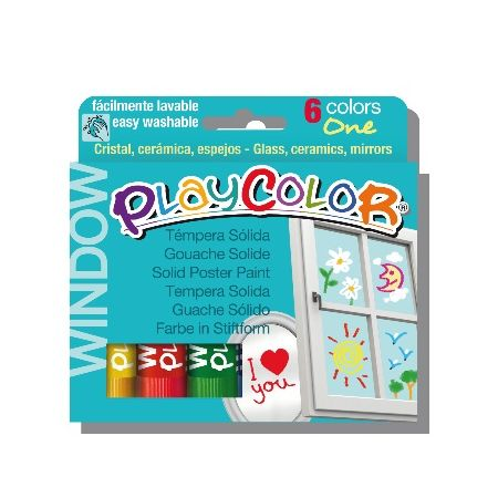 Playcolor window boîte de 6 couleurs assorties