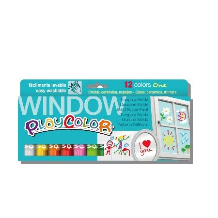 Playcolor window boîte de 12 couleurs assorties