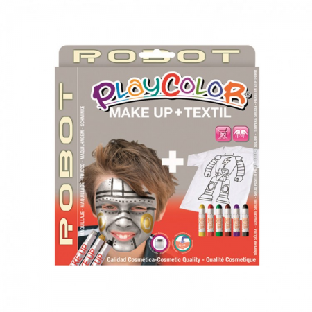 Playcolor pack make up pocket+textile one robot (kit)