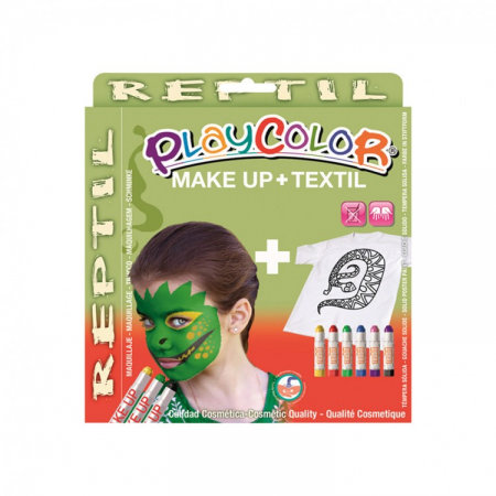 Playcolor pack make up pocket+textile one reptile (kit)