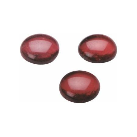 Galet verre 20x18mm rouge
