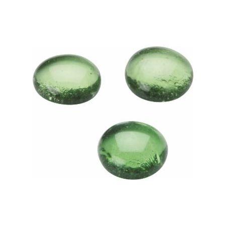Galet verre 20x18mm vert