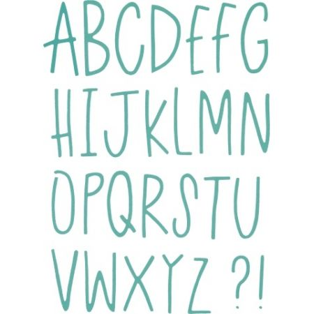 Thinlits Die Delicate Letters