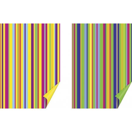 Carton créatif 50x70 Rayures ja/gn