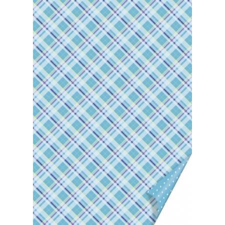 Carton 50x70cm Carreau bleu