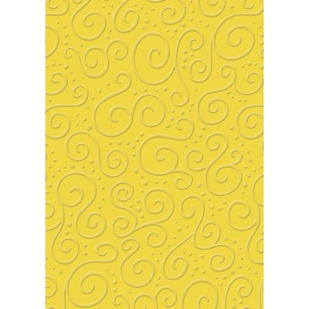 Carton gaufré A4 220g Milano jaune