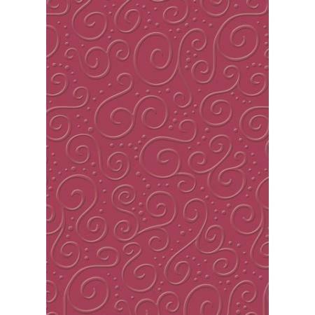Carton gaufré A4 220g Milano rouge