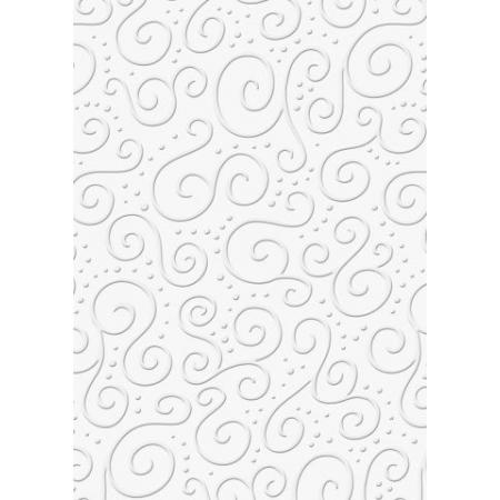 Carton gaufré A4 220g Milano blanc