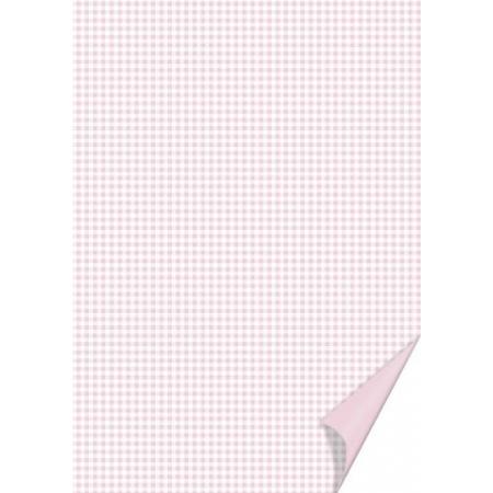 Carton quadrillé 21x31 200g rose