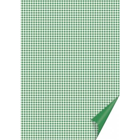Carton à carreaux 21x31 200g vert