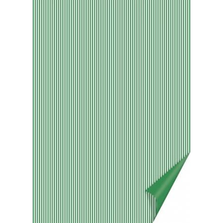 Carton à rayures21x31 200g vert