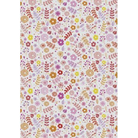 Carton 50x70 Fleurs rouges