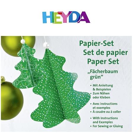 Set de papier Sapin vert