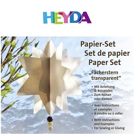 Set de papier Etoile transparente