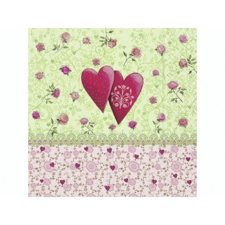 Serviettes Love is in the air 20pc