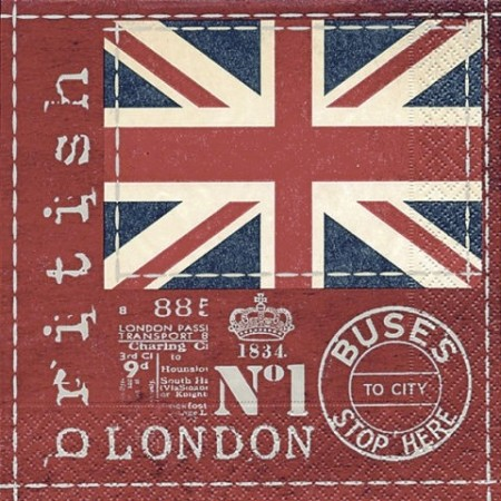 Serv.British flag33x33cm20pc