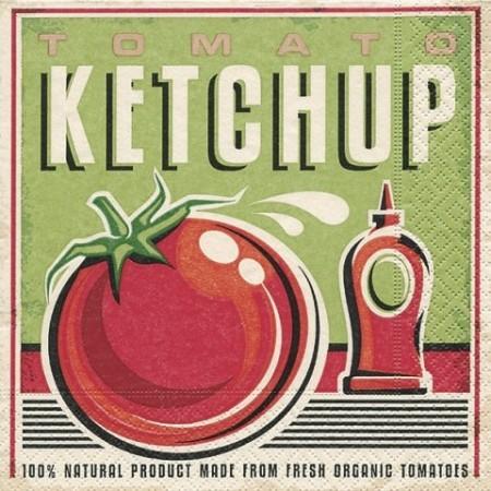 Serv.Ketchup33x33cm20pc