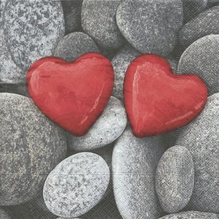 Serv.Love stones33x33cm20pc