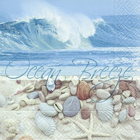 Serv.Ocean breeze33x33cm20pc