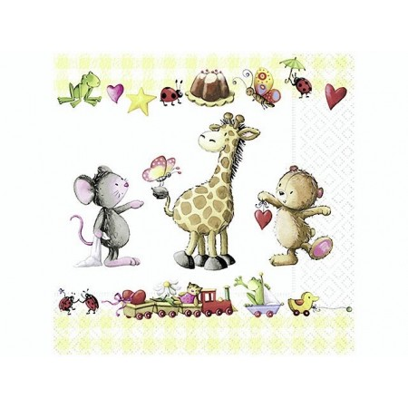 Serviettes Little friend 20pc