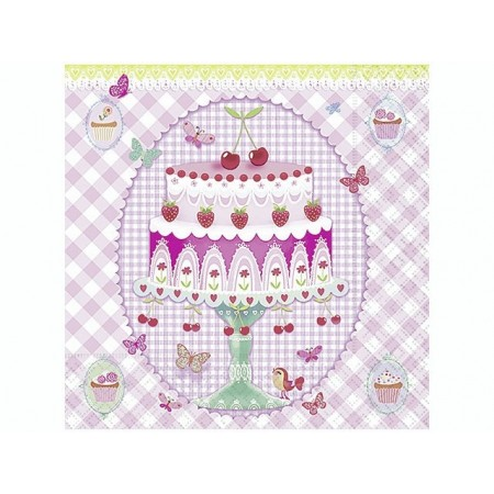 Serviettes A dream of cake 20pc